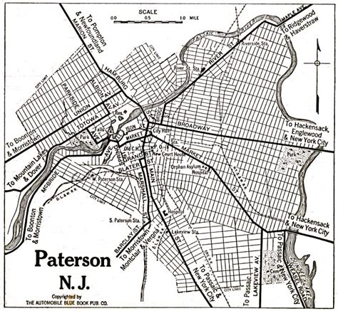 map of paterson new jersey passaic county new jersey maps and gazetteers