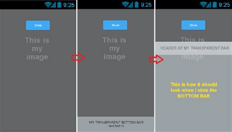 slide up layout in android android sliding up view stack overflow