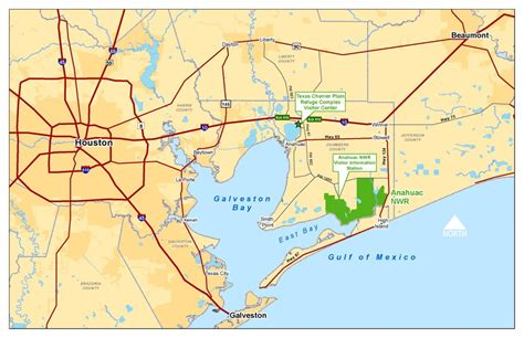 map of anahuac texas friends of anahuac refuge maps and directions