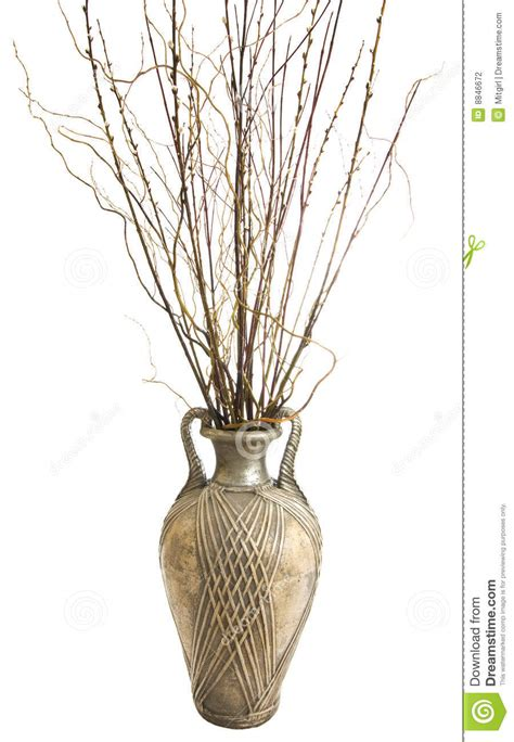 Large Vase With Sticks by Large Antique Vase With Decorative Sticks Stock