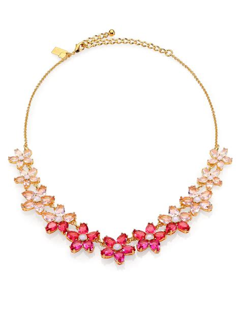 Jam Kate Spade Authentic 1 lyst kate spade new york ombre bouquet small necklace in pink