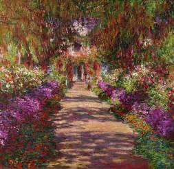 claude monet garten a pathway in monets garden giverny by claude monet