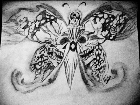 skull butterfly tattoo skull buddha butterfly by pznkitty on deviantart