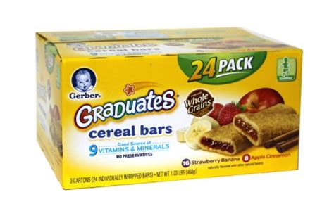 whole grains grocery store gerber graduates whole grain cereal bars 24 pack