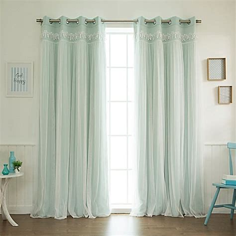 blackout and sheer curtains decorinnovation sheer overlay grommet top blackout window