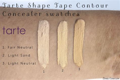 tarte light medium neutral tarte shape tape contour concealer fair neutral light