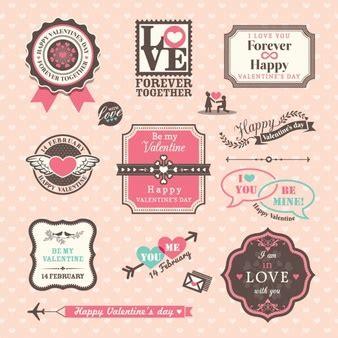 establecer etiquetas vintage con los corazones vector de corazones vintage fotos y vectores gratis