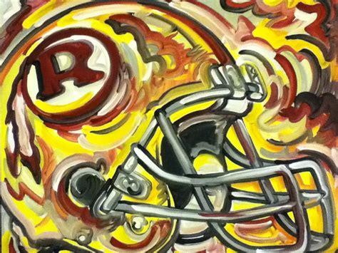 washington redskins painting by justin patten sports football washington redskins