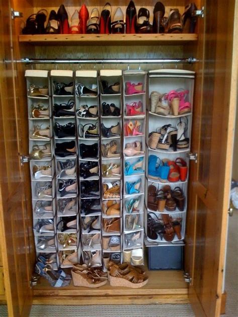 organized shoe storage without using an inch of precious floor space ikea hackers ikea hackers organized shoe closet color coordinated shoes christian louboutin my cleaning ocd