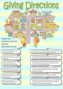 directions to go home giving directions interactive worksheet