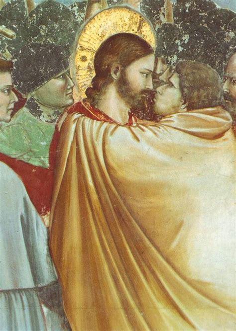 giotto judas kiss painting judas betrays jesus