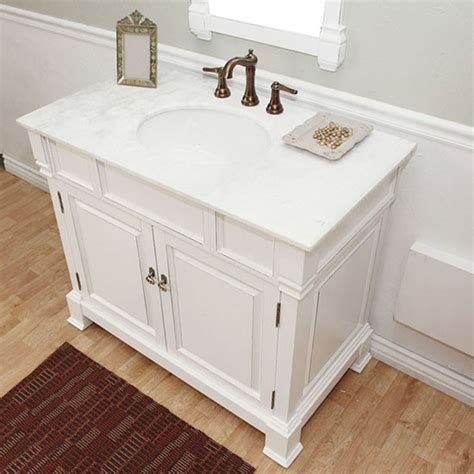 harlow single 42 inch traditional bathroom vanity white