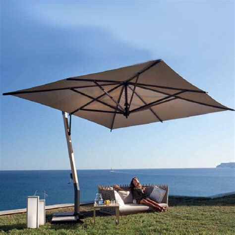 heavy duty patio umbrellas 11 5 square heavy duty aluminum cantilever patio umbrella on sale now