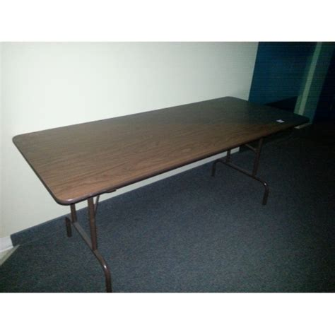 6 ft wood folding table 6 ft folding banquet table wood w steel frame allsold