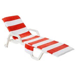 ac lounge chair towel coral summertime
