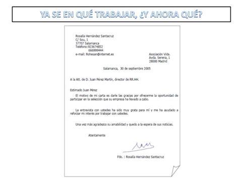 Modelo De Carta De Presentacion Para Enviar Curriculum Presentacion Alfabetizacion Proempleo Lupi 243 N