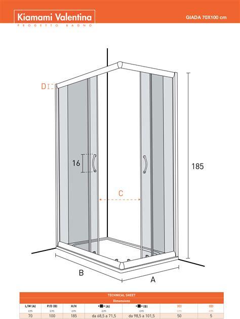 box doccia 70 x 100 box doccia 70x100 cristallo trasparente