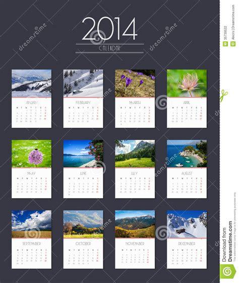 photography calendar layout calendar 2014 flat design stock photography image