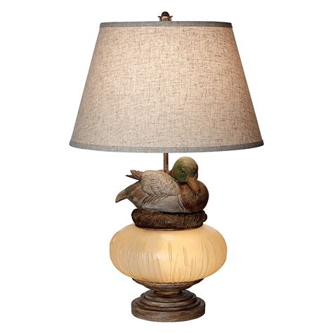 Western Home Decore by Rustic Table Lamps Marsh Glow Duck Table Lamp Black