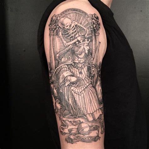 medieval tattoo woodcut envy pinte