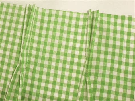 lime green and white gingham check pinch pleat kitchen