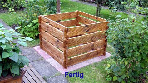bauhaus komposter im garten wir bauen einen komposter