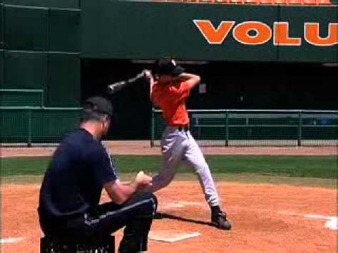 proper baseball swing drill to develop baseball bat swinging mechanics