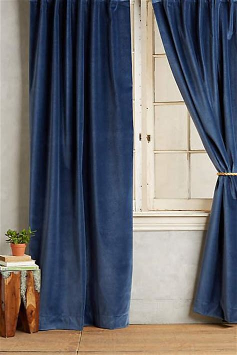 Navy Velvet Curtains Nuit Silk Drapes Curtains Half Price Drapes