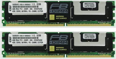 Ram Ddr2 Ecc 8gb 2x4gb ddr2 memory ram pc2 5300 ecc fully buffered fbdimm dimm ebay