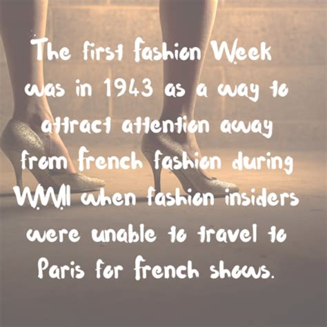 Facts About Fashion Week You Did Not 6 fashion facts that will impress your friends