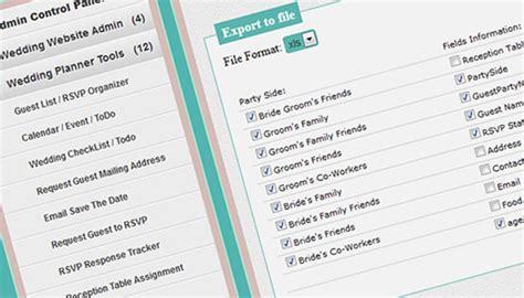Wedding Planner Tools by On Line Wedding Planner Tools Wedding Website