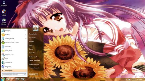download themes for windows 7 anime anime girls 5 windows 7 theme by windowsthemes on deviantart