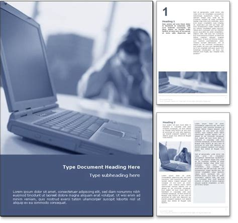 ms word document templates free royalty free computer crash microsoft word template in blue