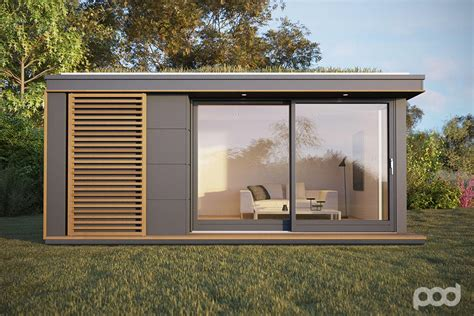 Backyard Shed Office Plans Pod Space Garden Prefab Getaways Prefab Cabins