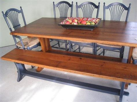 Harvest Style Dining Table Harvest Style Trestle Dining Table Ecustomfinishes