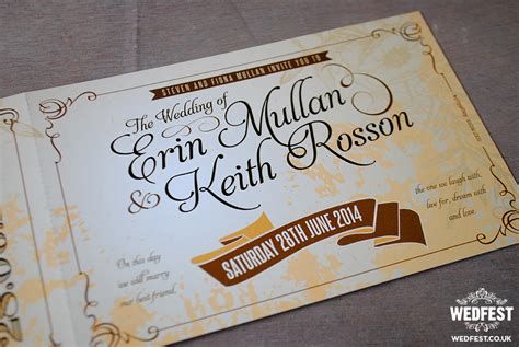 vintage wedding invitations belfast vintage ticket wedding invites wedfest