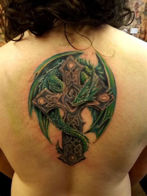 dragon cross tattoo designs celtic cross in progress future sleeve