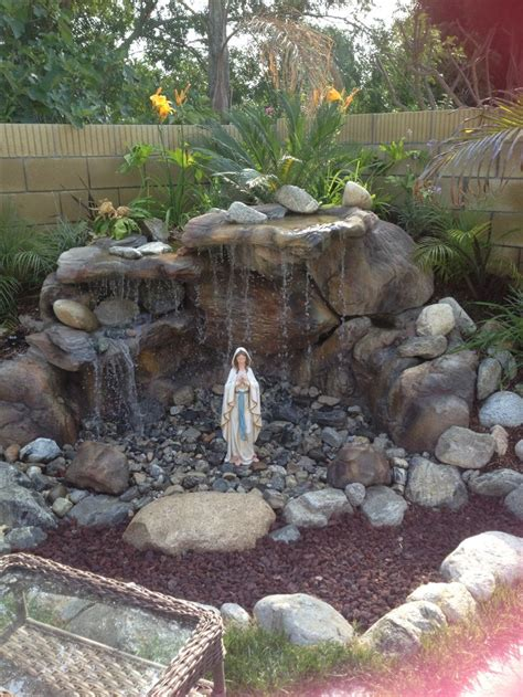 backyard mary grotto grotto shrine ideas pinterest