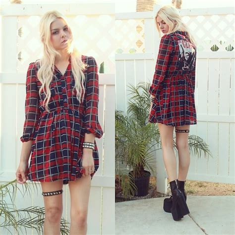 07 Dress Salem Dress Salem mickylene delgado oasap plaid tartan dress chiffon unif