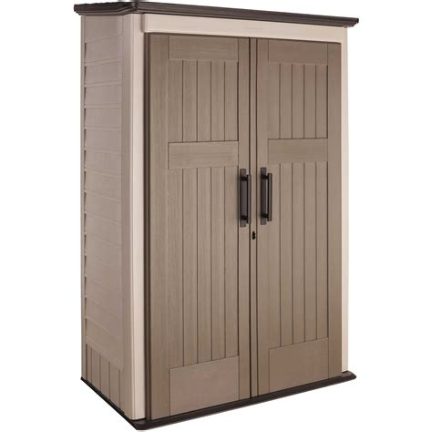 Rubbermaid Outdoor Storage Cabinet Rubbermaid 1887157 Vertical Outdoor Storage Shed All The Photos You Need To See Heavy