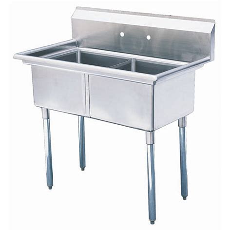 2 compartment prep sink buy turbo air tsa 2 n 2 compartment prep sink 18 quot at kirby