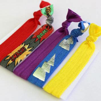 foe foe hair bands set of 5 comic hair ties ponytail from elena s bows