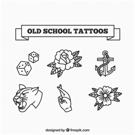 tattoo old school logo school badge templates free vector free download
