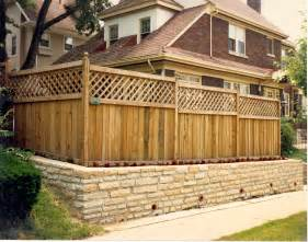 fence styles wood fence panels