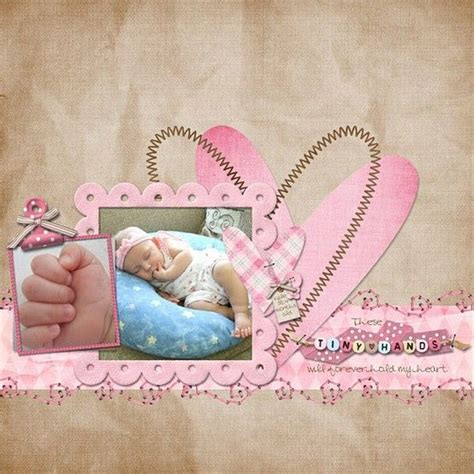 scrapbook layout baby girl baby girl layout who loves scrapbooking pinterest