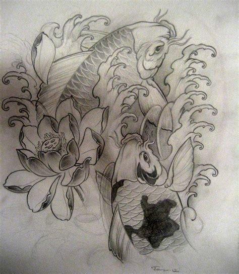koi fish lotus flower tattoo designs lotus flower and koi fish