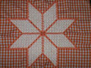 orange chicken scratch pattern