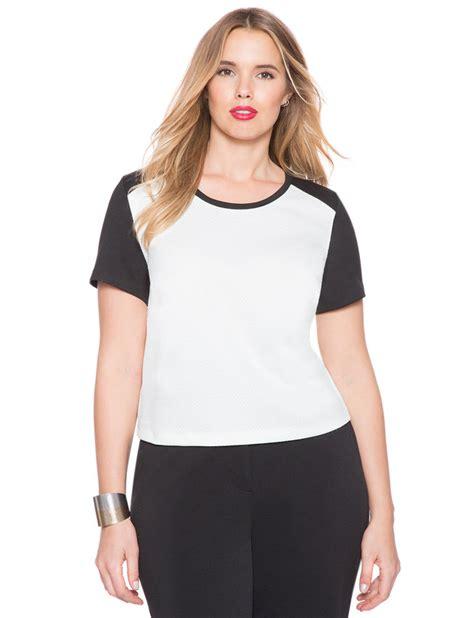 Blouse Import 25433 Black Textured Top studio textured sweatshirt s plus size tops eloquii