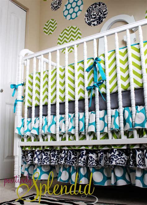 ruffled crib bedding ruffled crib skirt tutorial nursery bedding reveal