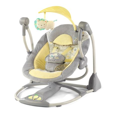 portable infant swing ingenuity portable baby swing kii 6985 grey yellow